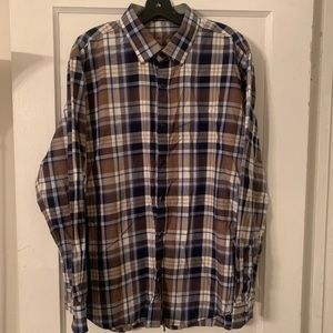 Tasso Elba Plaid Button Down Sz XL